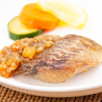 白身魚の幽庵焼き雑穀ソースのイメージ
