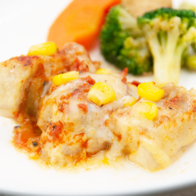 ローストチキントマトチーズソースのイメージ