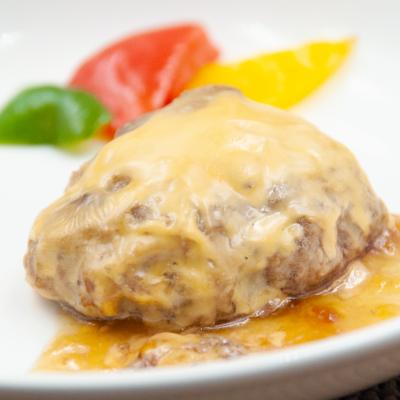 チーズハンバーグ照り焼きソースのイメージ