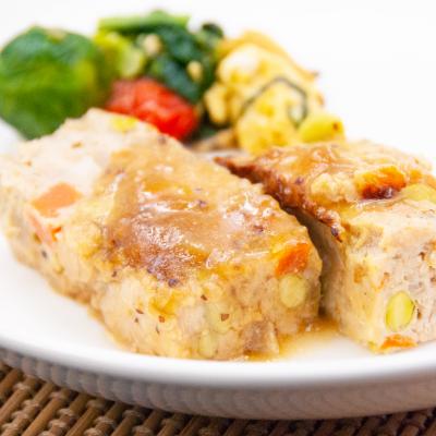大豆と野菜のミートローフ ハニーマスタードソースのイメージ
