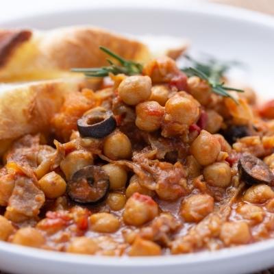 牛肉とひよこ豆の煮込みのイメージ