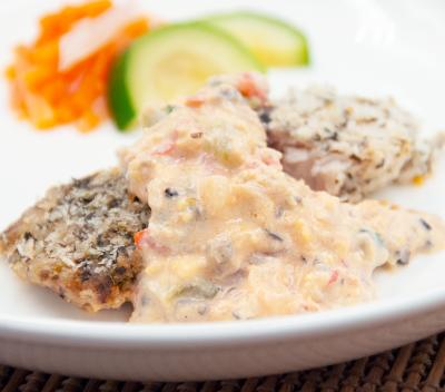 白身魚の香草パン粉焼きサウザンアイランドソースのイメージ