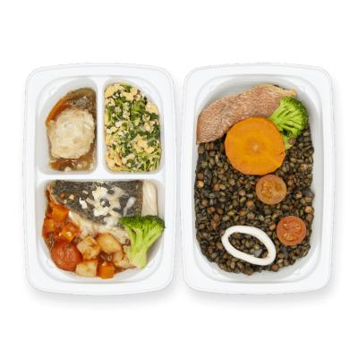 白身魚と野菜のマリナラソース煮+Eのイメージ